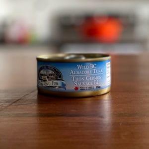 Can of Tanya Ray Fishing Wild bc albacore tuna